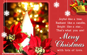 Free Christmas Greetings Free Musical Christmas Cards Merry Christmas With Lots Of Love