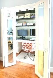 small closet office ideas design home desk ikea