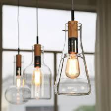 Living Room Best Style Wood Glass Pendant Lamp Ideas Diy Hanging