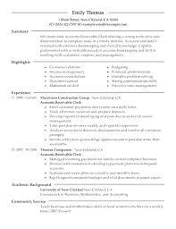 accounts receivables resumes professional accounts receivable resume unforgettable accounts