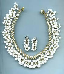 miriam haskell fringe necklace set