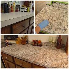 how to paint any countertops to look like granite