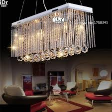 hot long size rectangle crystal pendant light fitting crystal chandelier ceiling suspension lamp for dining room bedroom glass chandelier drum chandelier