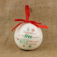 Personalised Light Up Christmas Baubles Led Light Up Christmas Wishing Bauble Inspirational Personalised Christmas Tree Decoration