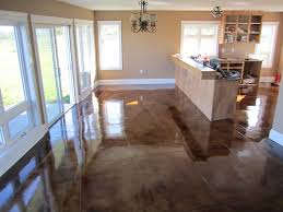 Polished Concrete Floor Kitchen Polished Concrete Floors In Homes Services Decorative