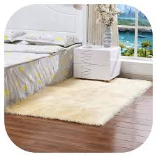 Light Yellow Fur Rug Amazon Com Rectangle Soft Faux Sheepskin Fur Area Rugs For