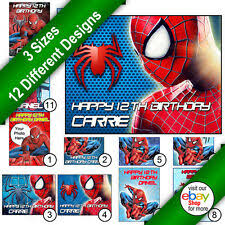 Spiderman Cake Toppers Cupcake Picks For Sale Ebay