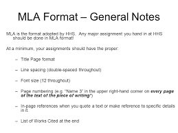 Mla Formatted Mla Format What It Is How To Use It Ppt Video Online Download