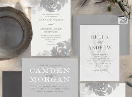 6 elegant wedding invitations for a