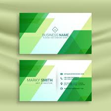 Green Card Template Green Business Card Template With Abstract Shapes Download Free