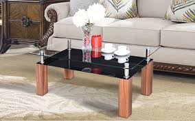 royaloak geneva coffee table with tempered glass top