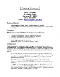 Resume For Office Job Pelosleclaire Com