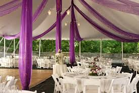 how to decorate a tent for a party in