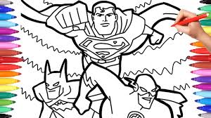 Here's a 4x timelapse video of the process i usually follow when coloring my drawings. Justice League Superheroes Coloring Pages Batman Superman And Flash Team Up Coloring Page Youtube
