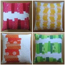 122 best Cojines - Pillow (Patchwork ) images on Pinterest ... & (J: these patterns are the basis of a quilt we're going to use as our  bedspread.) Image of CHOPPED VEGETABLES PILLOWS Modern Patchwork pdf Pattern Adamdwight.com