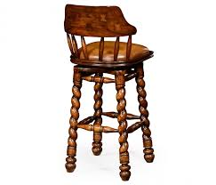bar stool with wheels. Country Style Walnut Leather Barstool With Barley Twist Legs In Bar Stool Wheels C