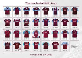 Skip to navigation skip to content. 1976 2020 West Ham Historical Shirt Poster Classic Retro Vintage Football Shirts