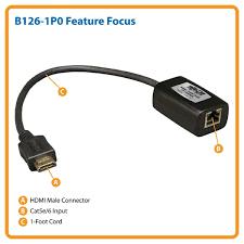 tripp lite b126 1p0 hdmi over cat5 passive extender remote unit b126 1p0 feature focus