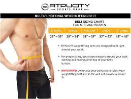 Fitplicity Weight Lifting Belt For Men Women