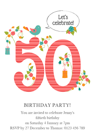 50th birthday invitations free printable womens 50th elegant birthday free printable birthday