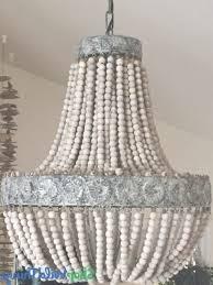 large wood bead chandelier eclectic boho chandelier regarding wooden beaded chandelier view 17 of