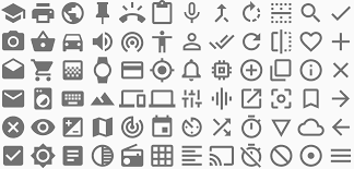 Material Design Iconography Icons Style Android Wear Design Guidelines