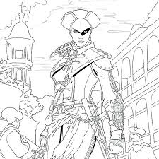 Assassins Creed Color Pages Assassins Creed Brotherhood Colouring