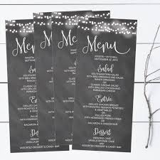 Event Menu Template Best Chalkboard Lights Printable Wedding Menu Template Vintage Etsy