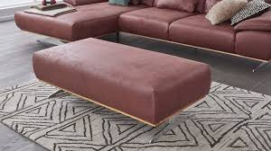 Interliving Sofa Serie 4300 Xxl Hocker Rote Mikrofaser Mustang Wine Ca 135 X 70 Cm