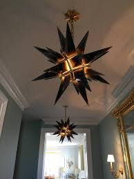 modern smoky brown rock crystal star chandelier in excellent condition for in new york