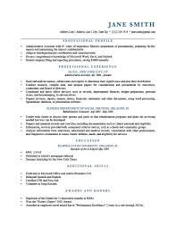 Example Professional Resume Interesting How To Write A Professional Profile Resume Genius