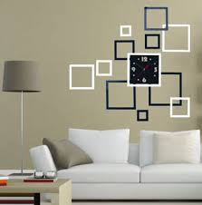 office wall art. Square 3D Home Decor Wall Stickers DIY Mirror Surface Art Office Clock  Hot Office Wall Art