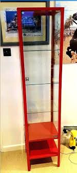 ikea glass cabinet display case red metal and glass display cabinet display case light ikea glass
