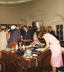 kennedy oval office. Jacqueline Kennedy Writing On The President\u0027s Oval Office Desk N Spring Of 1963.