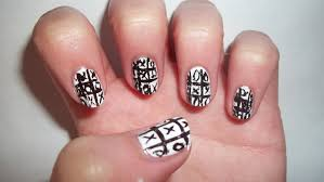 designs for toe nail art toe nail designs black and white french ...