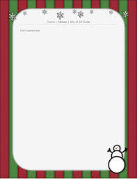 Free Word Stationery Templates Holiday Stationery With Snowman