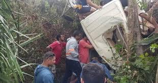 Resultado de imagem para Caminhão perde os freios e cai em ribanceira entre Guaraciaba do Norte e Reriutaba