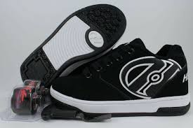 Heelys Propel 2 0 Black White Roller Skate Wheels Boys Mens Us Youth Sizes