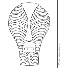 Small Picture Africa Ivory Coast mask Coloring Page EnchantedLearningcom
