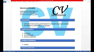 How To Make Resume Cv With Microsoft Word