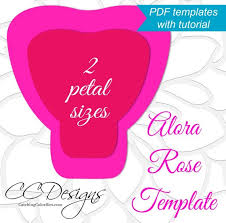 Paper Flower Template Pdf Printable Pdf Paper Rose Templates Giant Paper Rose Flower Etsy