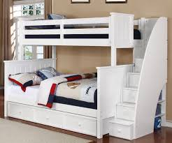 twin over full bunk bed with stairs. White Bunk Beds Twin Over Full Stair Bed With Stairs