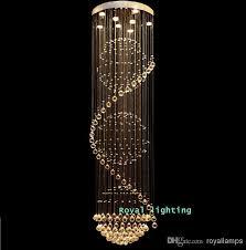 beautiful long chandelier lighting big stairway crystal chandelier led lamps long creative europe