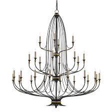 9000 0213 currey and company folgate chandelier in french black with gold leaf accents