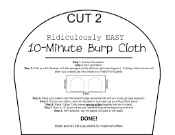 Burp Cloths Pattern