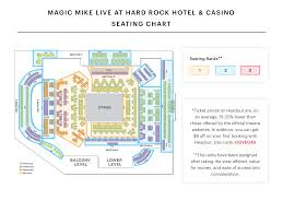 Hard Rock Hotel Las Vegas Concert Seating Chart Club Domina Seating Chart Magic Mike Live At Hard Rock
