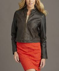 all gone distressed brown vintage leather jacket