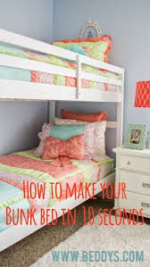 Seconds Bedroom Furniture Make Your Bed Fast And Easy Cute Girls Bunk Bed Bedding