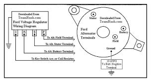 wiring wiring diagram of ford 4 wire voltage regulator 07600 4 wire alternator to 3 wire at 4 Wire Alternator Diagram