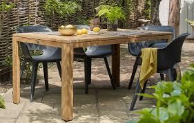 akola resin and teak dining set 4 seats